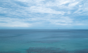 二見ヶ浦の海と青空の写真素材 [FYI04806038]