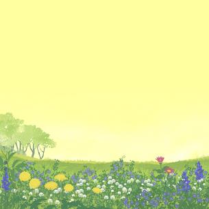 春の野原のイラスト素材 [FYI04806747]