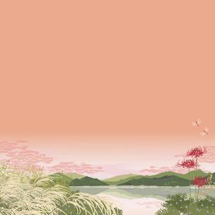 秋の夕暮れのイラスト素材 [FYI04806751]