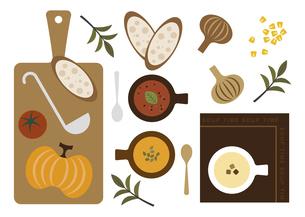 スープとパン イラストのイラスト素材 [FYI04806901]