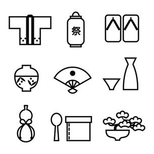 日本の物 アイコンのイラスト素材 [FYI04808125]