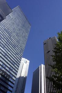 東京新宿西口にそびえ立つ副都心の高層ビル群の写真素材 [FYI04808185]