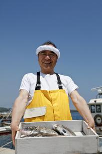 日本人の漁師の写真素材 [FYI04808236]
