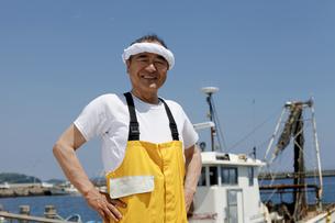 日本人の漁師の写真素材 [FYI04808237]