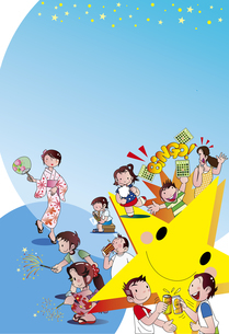 夏祭りのポスターのイラスト素材 [FYI04808935]