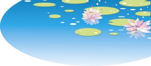 睡蓮の花のイラスト素材 [FYI04808951]