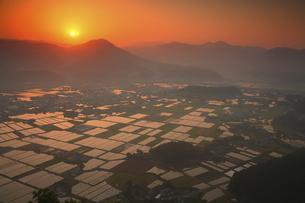 伐株山からの朝日の写真素材 [FYI04809108]