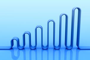 波状の立体物 CGのイラスト素材 [FYI04809284]