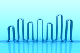 波状の立体物 CGのイラスト素材 [FYI04809285]