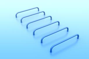 並ぶ曲線の立体物 CGのイラスト素材 [FYI04809287]