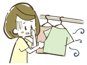 生乾き臭-洗濯物のイラスト素材 [FYI04809394]