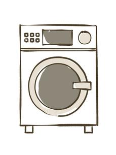 ドラム洗濯乾燥機のイラスト素材 [FYI04809419]