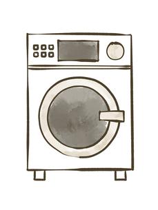 ドラム洗濯乾燥機-水彩のイラスト素材 [FYI04809420]