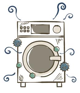 汚れが溜まっている洗濯機のイラスト素材 [FYI04809434]