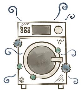 汚れが溜まっている洗濯機-水彩のイラスト素材 [FYI04809435]