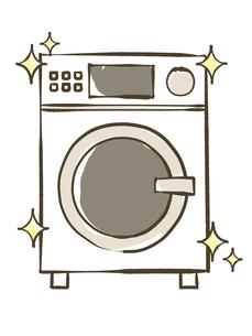 ドラム洗濯乾燥機のイラスト素材 [FYI04809436]