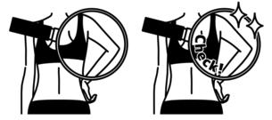 女性の二の腕と背中-クローズアップ-黒のイラスト素材 [FYI04809617]