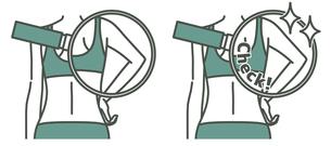 女性の二の腕と背中-クローズアップ-2色のイラスト素材 [FYI04809618]