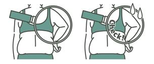 肥満の女性の二の腕と背中-クローズアップ-2色のイラスト素材 [FYI04809621]