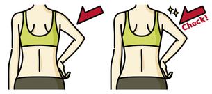 女性の二の腕と背中-チェックのイラスト素材 [FYI04809622]