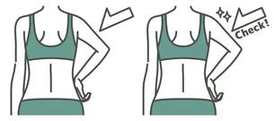 女性の二の腕と背中-チェック-2色のイラスト素材 [FYI04809624]