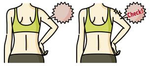 女性の二の腕と背中-チェックのイラスト素材 [FYI04809635]