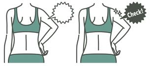女性の二の腕と背中-チェック-2色のイラスト素材 [FYI04809637]