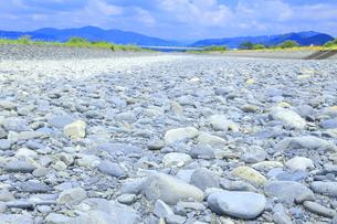 夏の渇水期の大井川 の写真素材 [FYI04809755]