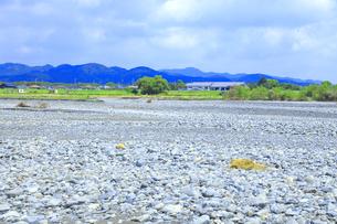 夏の渇水期の大井川の写真素材 [FYI04809768]
