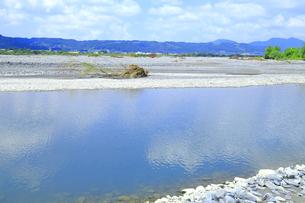 夏の渇水期の大井川の支流の写真素材 [FYI04809805]