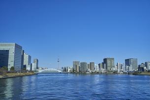 隅田川とスカイツリーの写真素材 [FYI04810007]