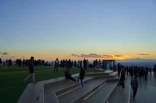 渋谷スカイの夕景の写真素材 [FYI04810021]