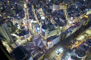 夕方の渋谷の街並みの写真素材 [FYI04810025]