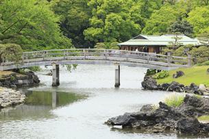 浜離宮庭園の中の橋の写真素材 [FYI04810261]