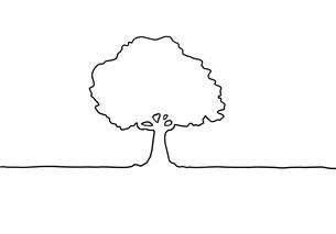 木の手描き線画イラストのイラスト素材 [FYI04810273]