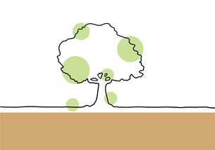 木の手描き線画イラストのイラスト素材 [FYI04810274]