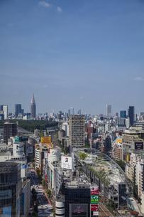 渋谷の街並みと新宿のビル群の写真素材 [FYI04810355]