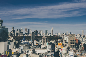渋谷の街並みと新宿のビル群の写真素材 [FYI04810362]