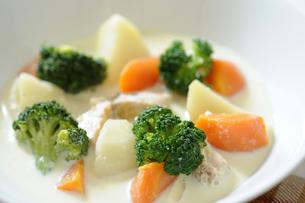野菜たっぷりクリームシチューの写真素材 [FYI04810376]