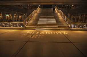渋谷 ミヤシタパークの階段の写真素材 [FYI04810457]
