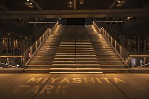 渋谷 ミヤシタパークの階段の写真素材 [FYI04810460]