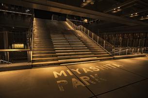 渋谷 ミヤシタパークの階段の写真素材 [FYI04810463]