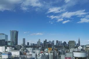 渋谷の街並みと新宿のビル群の写真素材 [FYI04810500]