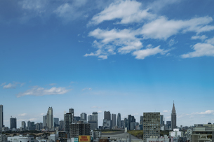渋谷の街並みと新宿のビル群の写真素材 [FYI04810503]