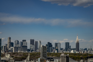 渋谷の街並みと新宿のビル群の写真素材 [FYI04810505]