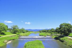 川と青空の写真素材 [FYI04810778]