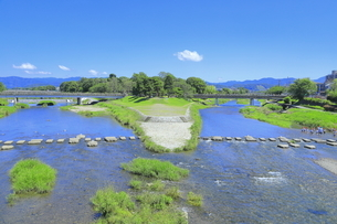 賀茂川と高野川の合流点の写真素材 [FYI04810792]