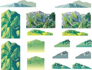 山の素材集のイラスト素材 [FYI04810915]