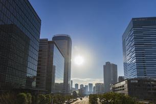豊洲のオフィス街の高層ビル群の写真素材 [FYI04811278]