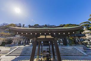 観音造立1300年を迎えた長谷寺の観音堂の写真素材 [FYI04811324]